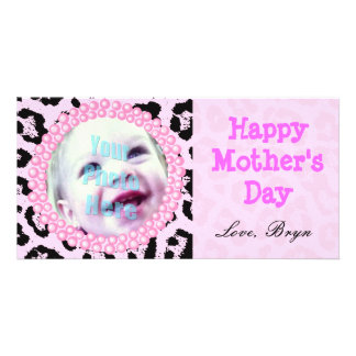 Perfect Mother's Day Gift Pink Cheetah Frame - Customized Photo Card