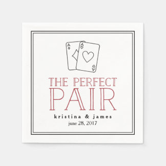 Perfect Pair | Playing Cards Disposable Napkins