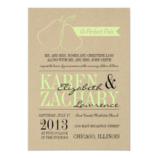 Perfect Pair Wedding Invitation