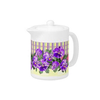 Perfect Pansy Teapot