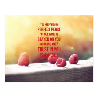 Perfect Peace Isaiah 26:3 Postcard