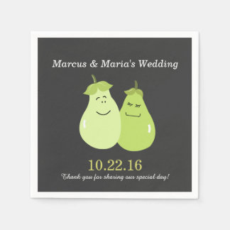 Perfect Pear Pair Bride/Groom Wedding Napkins Disposable Napkins
