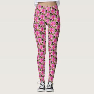 Perfect Pink Plumeria Yoga Leggings