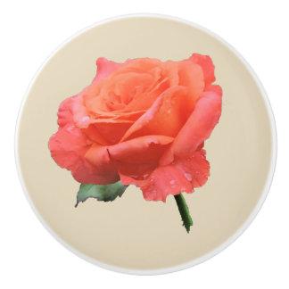 Perfect Pink Rose Ceramic Knob