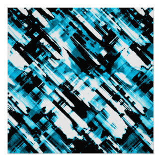 Perfect Poster Blue Black abstract digitalart G253