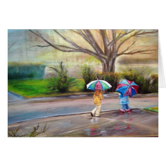 """Perfect rainy day"" Card"