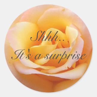 Perfect Rose - Shh. It's a surprise Round Sticker