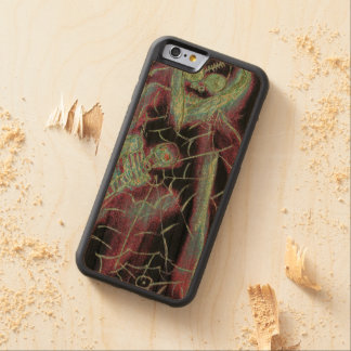perfect scary skeleton carved cherry iPhone 6 bumper case