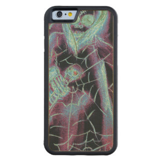perfect scary skeleton carved maple iPhone 6 bumper case