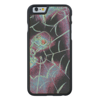 perfect scary skeleton carved maple iPhone 6 case