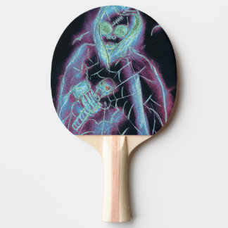 perfect scary skeleton ping pong paddle