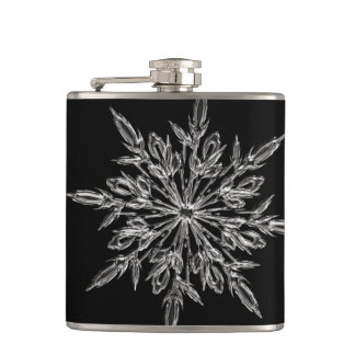 Perfect Snowflake for the Christmas Holiday Hip Flask