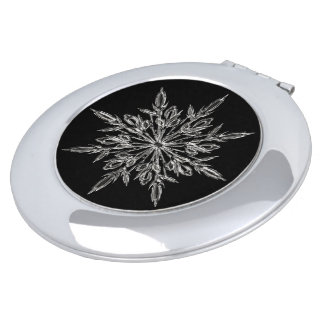 Perfect Snowflake for the Christmas Holiday Travel Mirror