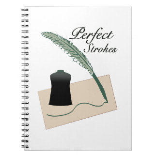 Perfect Strokes Spiral Notebook