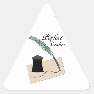 Perfect Strokes Triangle Stickers