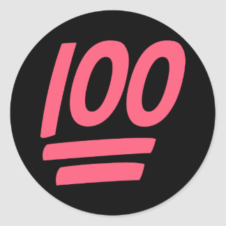 Perfect Success 100! Classic Round Sticker