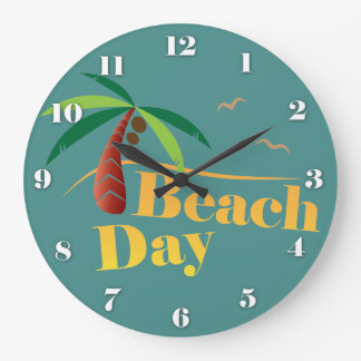 Perfect Summer Beach Day Large Clock
