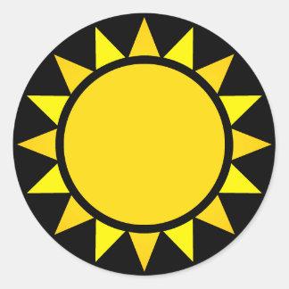 Perfect Sun Emoji Classic Round Sticker