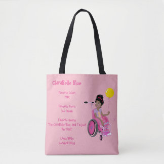 Perfect Tote - ClaraBelle Blue w/Balloon(Pink)