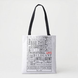 Perfect tote to carry all of your Dobe's toy in!