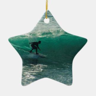 perfect wave ceramic ornament