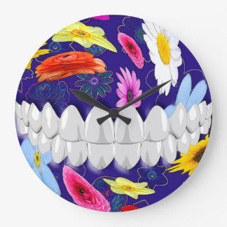 Perfect White Teeth Smile Dentist Wall Clock
