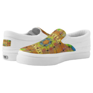 Perfect Woven Colorful Little Princess pattern art Slip-On Sneakers