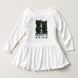 """""""Perfection Builds"""" Toddler Ruffle Dress"""