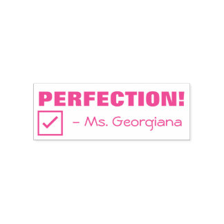 """PERFECTION!"" Teacher Rubber Stamp"