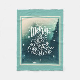 Perfectly Decorated Christmas Fleece Blanket