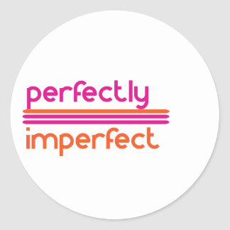 Perfectly Imperfect Classic Round Sticker