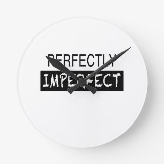 Perfectly Imperfect Round Clock