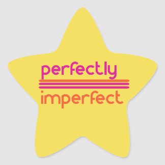 Perfectly Imperfect Star Sticker