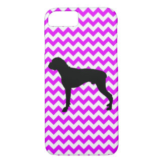 Perfectly Pink Chevron With Boxer iPhone 7 Case