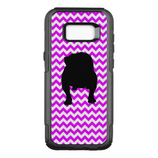 Perfectly Pink Chevron With Bulldog OtterBox Commuter Samsung Galaxy S8+ Case