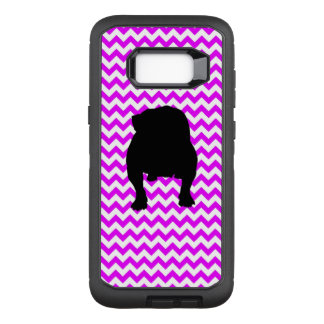 Perfectly Pink Chevron With Bulldog OtterBox Defender Samsung Galaxy S8+ Case