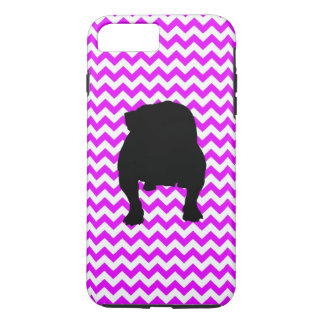Perfectly Pink Chevron With English Bulldog iPhone 7 Plus Case