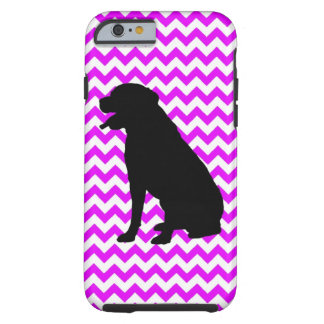 Perfectly Pink Chevron With Labrador Retriever Tough iPhone 6 Case