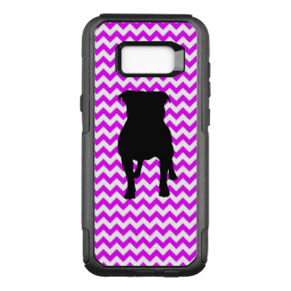 Perfectly Pink Chevron With Pug Silhouette OtterBox Commuter Samsung Galaxy S8+ Case