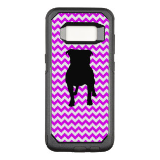 Perfectly Pink Chevron With Pug Silhouette OtterBox Commuter Samsung Galaxy S8 Case