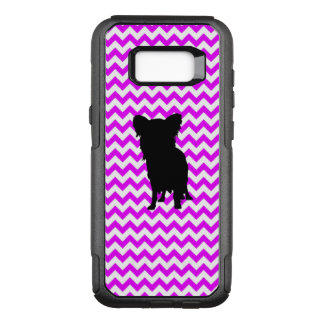 Perfectly Pink Chevron With Yorkie OtterBox Commuter Samsung Galaxy S8+ Case
