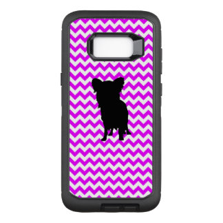 Perfectly Pink Chevron With Yorkie OtterBox Defender Samsung Galaxy S8+ Case