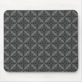 Perfectly Polished Damask Mousepad, Gray Mouse Pad