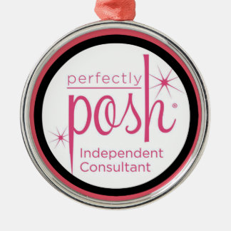 Perfectly Posh Independent Consultant gifts Silver-Colored Round Ornament