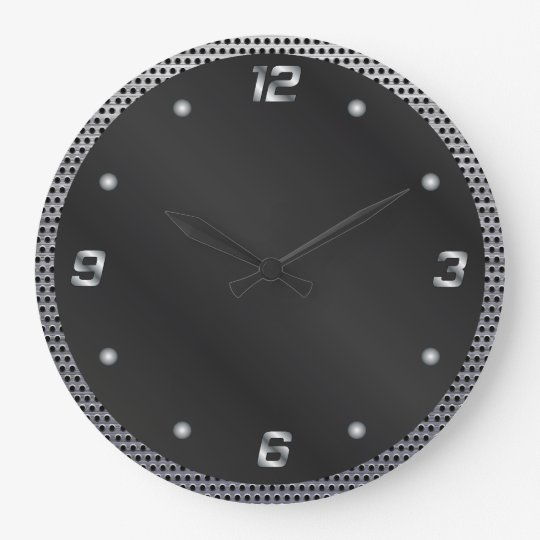 Perforated Metal Large Clock
