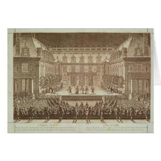 Performance of the opera 'Alceste' Card