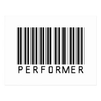 Performer Bar Code Postcard
