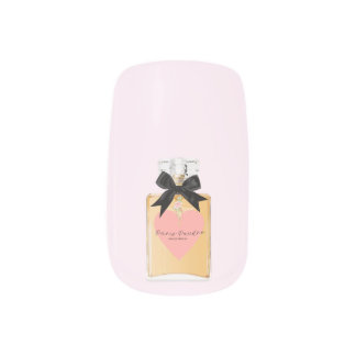 Perfume Art Cream and Pink Minx Nail Art