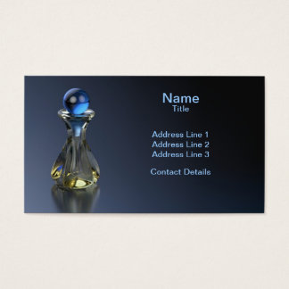 Perfume Bottle Hint of Blue Business Card