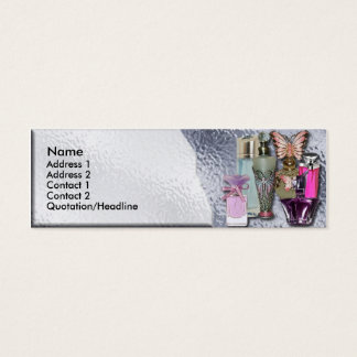 Perfume Cosmetic Store Shop Skinny Business Card
